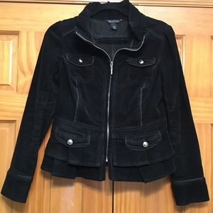 White House Black Market Black Corduroy Jacket 6